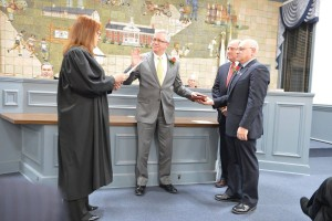 Thomas Cook being Sworn in Judge Kondrup-Coyle